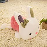 S-SSOY 30cm/11.8'' Creative Pillow Cute Soft Plush Pink Rabbit Hugging Pillows Doll Toy Cushion Stuffed Animals Girlfriend Present Good Friend Gift