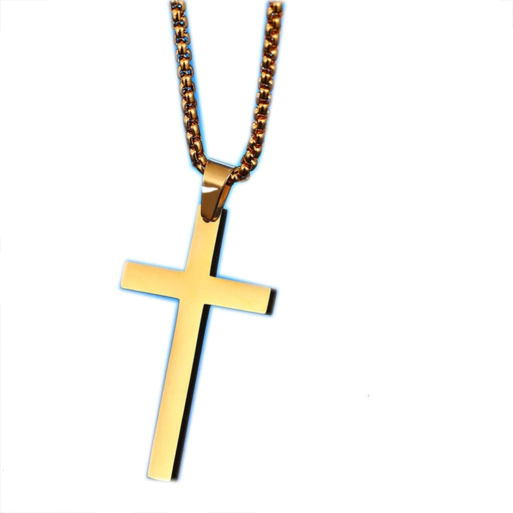 Chain Men//Women Layered Gold//Silver Plated Tiny Cross Pendant Necklace Alloy