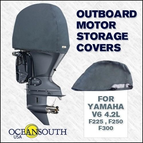 Oceansouth Custom Fit Storage Covers for YAMAHA V6 4.2L Outboards F225, F250, F300 by Oceansouth