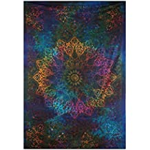 Twin Blue Tie Dye Bohemian Tapestry Elephant Star Mandala Tapestry Tapestry Wall Hanging Boho Tapestry Hippie Hippy Tapestry Beach Coverlet Curtain By Marubhumi