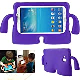 Samsung Galaxy Tab 7.0 Inch Case,Y&M(TM) Cute EVA Foam Childproof Shockproof Durable Light Weight Cute 3D Cartoon Kids Protective Tablets Case Cover for Samsung Galaxy Tablet 2 /3 /3 Lite / 4 / Q 7.0 inch Purple