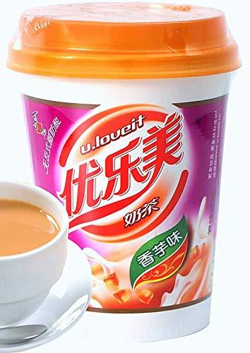 Assorted Flavor Bubble Tea 4 in one randomly packed Free Gun Keychain(toon, vanilla, original, wheat or red bean) 香草味 原味 香芋味 红豆味 椰果味 珍珠奶茶 by uLov