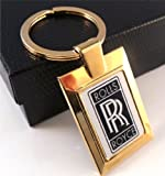 The British Gold Company 24K Gold Finished Square Luxury Rolls Royce Car Keyring Stunning