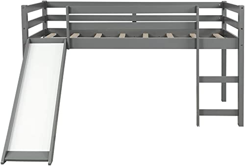 Solid Wood Fun Twin Size Loft Bed