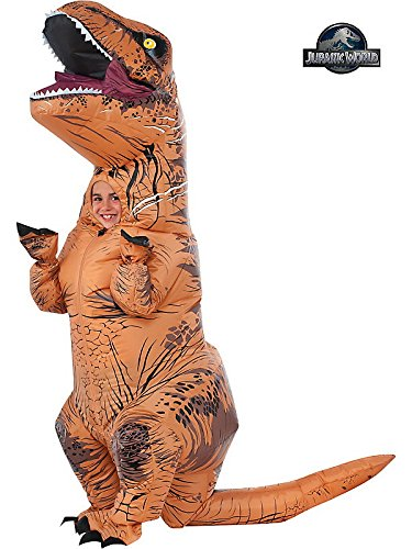 [Dressing Up & Costumes- Jurassic World Deluxe Inflatable T-Rex Costume for Kids, One Size -] (T Rex Kids Costumes)