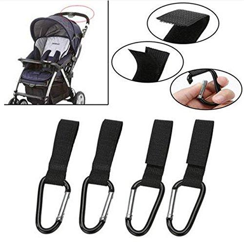 4pcs/Set Stroller Hooks Wheelchair Stroller Pram Carriage Bag Hanger Hook Baby Strollers Shopping Bag Clip Stroller Accessories by Samy Best