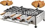 LPG Gas 6pcs Fish Waffle Japanese Taiyaki Maker Machine Baker Iron Mold