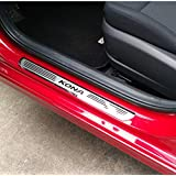 Weigesi Car Stainless Steel Door Sill Scuff Plate for Hyundai KONA 2018