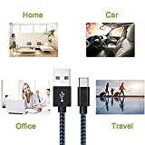 Type-C-Cable-Asstar-3Pack-10ft-Nylon-Braided-USB-C-Fast-Charging-Cord-for-Google-Pixel-XL-Nexus-6P-5X-LG-G6-G5-V20-HTC-10-Samsung-Galaxy-S8-Plus-OnePlus-23-More-Black-Blue