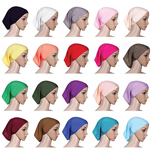 Daxin-20-Colors-Under-Scarf-Hijab-Tube-Bonnet-Bone-Chemo-Hat-Lycar-Fabric