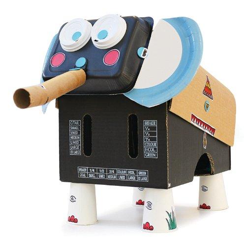 MAKE & DO Makedo Find and Make - Juego de manualidades, diseño de elefante, color azul y negro: Amazon.es: Juguetes y juegos