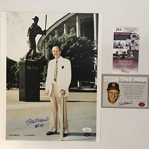 - Autographed/Signed Stan Musial HOF 69 St. Louis Cardinals 11x14 Baseball Photo JSA COA