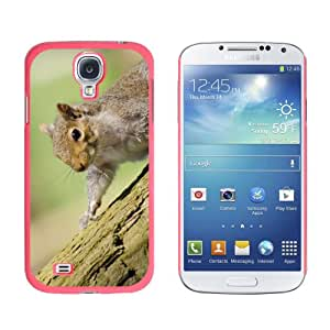 Graphics and More Cute Squirrel On Tree Hammy Pattern Snap-On Hard Protective Case for Samsung Galaxy S4 - Non-Retail Packaging - Pink