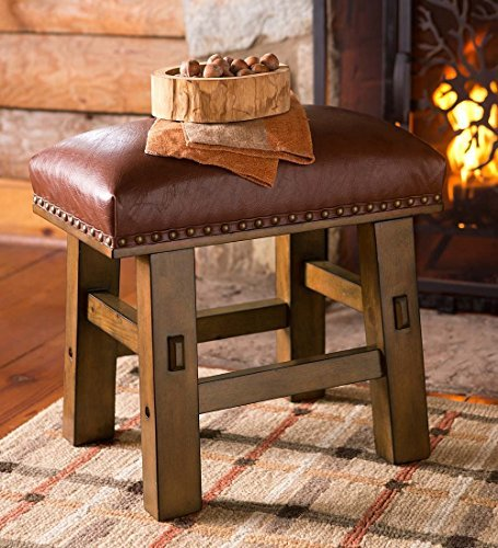 Canyon Leather Footstool (Storage Leather Footstool)