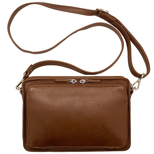 Organizer Handbag 6219 Leather Crossbody toffee ILI c7tYIqSqO