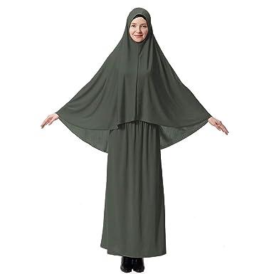 7e33febaf1d89 Mengonee Robe Femmes Burqa Costume Robe Lady Desert Thobe Hijab Fille  Manches Longues tête Robe Couverture