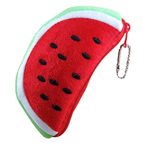 CozyCorner 1Pc Creative Fruit Lovely Cartoon Watermelon Coin Bag Purse Wallet
