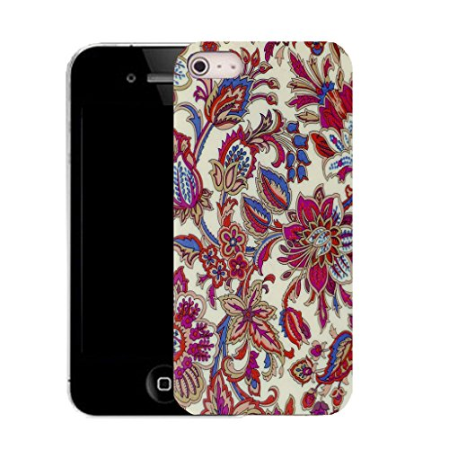 Mobile Case Mate IPhone 4 clip on Silicone Coque couverture case cover Pare-chocs + STYLET - wisteria pattern (SILICON)