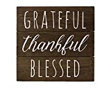 Cheap Elegant Signs Grateful Sign Wall Decor with Thankful Blessed by Made in USA