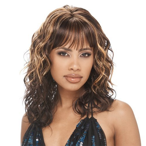 Shake N Go Freetress Equal Lace Front Wig - Sonya #1B/30 by Freetress
