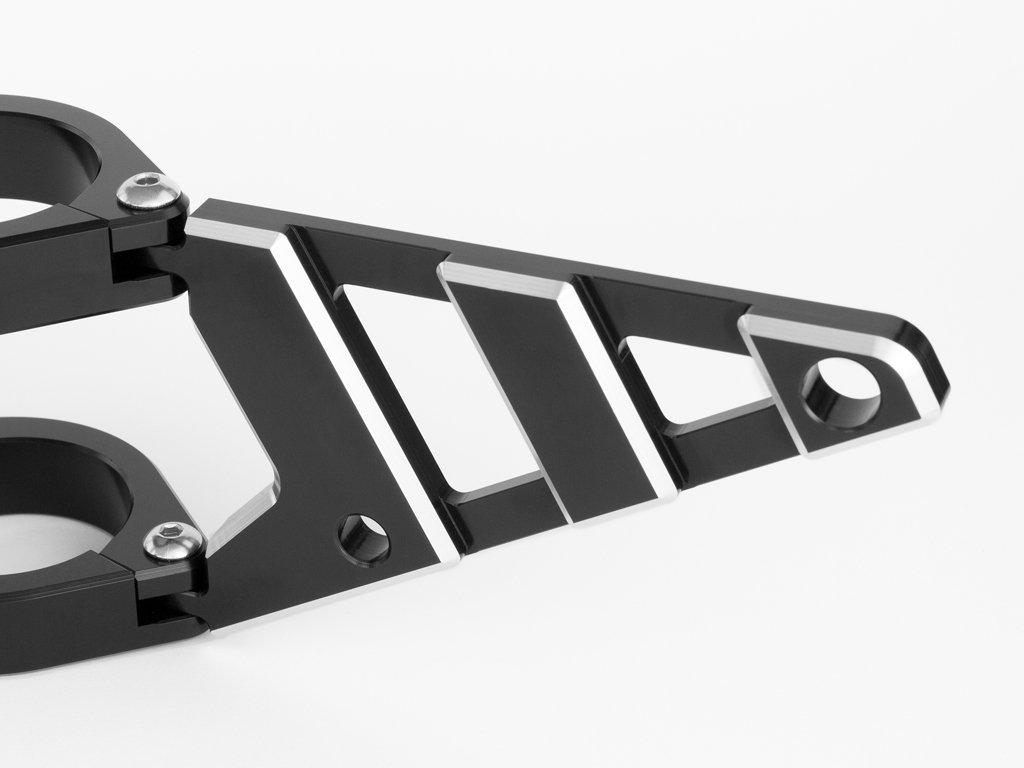 di Qualit/à Supporti Faro 52-53mm With Frecce su Forcelle per Moto CNC Alluminio