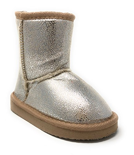 Simple Petals Girl's Warm Winter Cozy Metallic Shearling