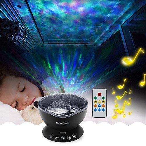 Supertech Multicolor Ocean Wave Projector Night Light Lamp