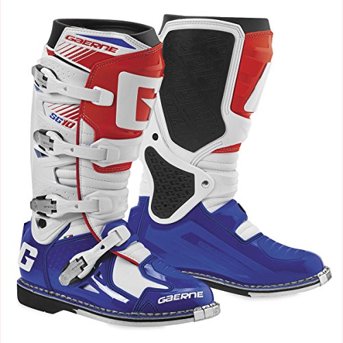 Gaerne SG-10 Boots (8) (WHITE/BLUE/RED) by Gaerne (Image #1)