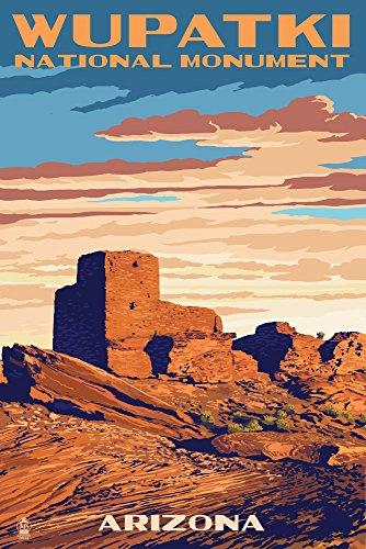 - Wupatki National Monument, Arizona (12x18 Fine Art Print, Home Wall Decor Artwork Poster)
