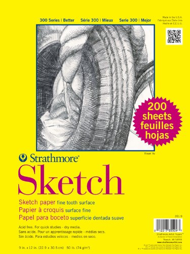 Strathmore 300 Series Sketch Pads 11 in. x 14 in. wire bound 100 sheets