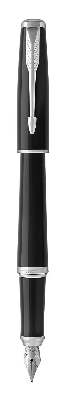 pennino medio e inchiostro blu con dettagli in oro PARKER Urban penna stilografica Muted Black 1931601 nero