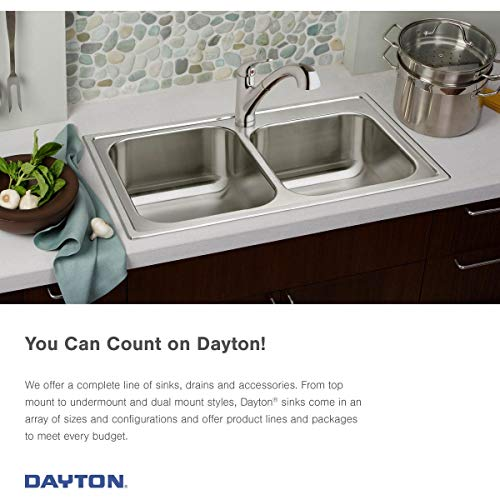 Elkay GE12521L4 Dayton Single Bowl Drop-in Stainless Steel Sink