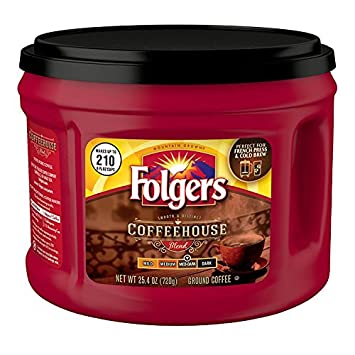 Folgers Coffeehouse Blend Ground Coffee Medium Dark Roast 254 Ounce