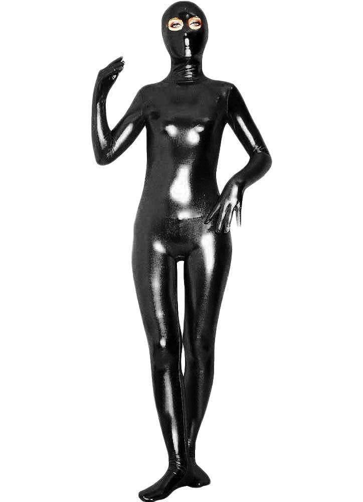 WOLF UNITARD Shiny Metallic Unitard Zentai Suit with Eyes Open