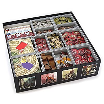 Folded Space 7 Wonders and Expansions Board Game Box Inserts Organizer: Toys & Games