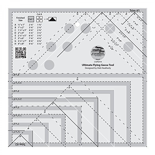 Creative Grids Ultimate Flying Geese Template and Quilt Ruler - Places Times To In Square Shop