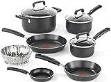 Cheap T-fal 2100099372 B167SA64 Cookware Set, 10-Piece, Black