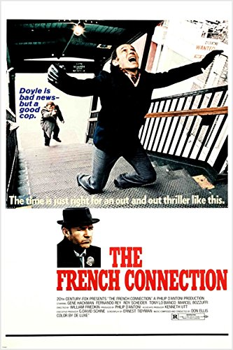 the FRENCH CONNECTION vintage movie poster 24X36 5 ACADEMY AWARDS police NEW (reproduction, not an original)