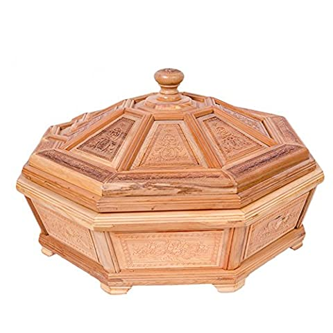 Carved octagonal fruit bowl/ gift mahogany top grade fruit/ wooden fruit boxes ornaments