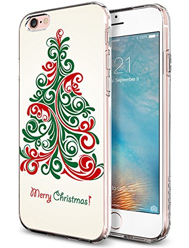 Protective iPhone 6S Plus Case 5.5 Inch Dancing Christmas Tree