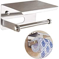 Tagve Stainless Steel Toilet Paper Napkin Holder with Mobile Phone Stand - Bathroom Accessories (Chrome Finish)