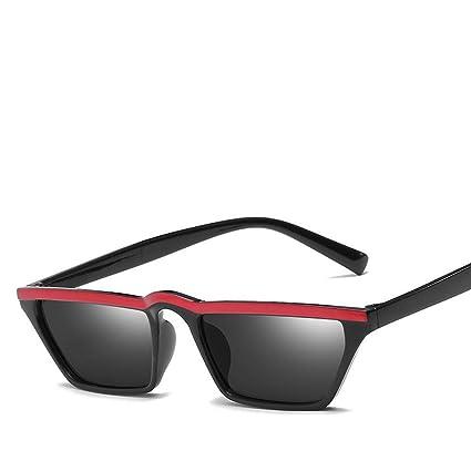 BiuTeFang Gafas de Sol Mujer Hombre Polarizadas Caja Tendencia Gafas de Sol Moda Pequeña Caja la