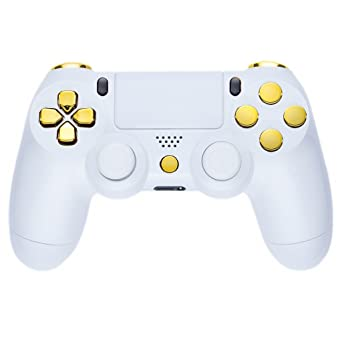 Controller - Piano White Gold (PS4)  Amazon.co.uk  PC   Video Games 4d83df7071