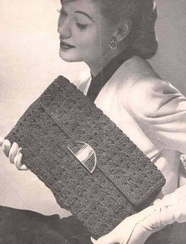 Cordet Crocheted Bag No 4803 Crochet Envelope Purse Handbag Pattern