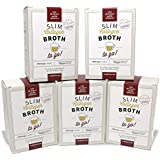 Bone Broth Collagen To Go Packets (Five Box Set) from Bone Broth Expert Dr. Kellyann | 100% Grass-Fed Collagen | Your Daily Serving of Collagen in Convenient packets for busy lifestyles
