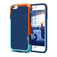 iPhone 6 Plus Case, LoHi iPhone 6s Plus Case Hybrid Impact 3 Color Shockproof Rugged Case Soft TPU & Hard PC Bumper [Extra Front Raised Lip] Anti-slip Cover for Apple iphone 6s Plus 5.5 Inch - Blue