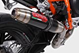KTM Duke 690 2012-2014 GPR Exhaust Systems Mid System With Catalyzed Road Legal Deeptone Carbo Look Muffler