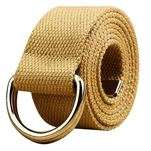 Cinch Vintage Belt (Anboo Multicolor Double loop canvas belt men and women students lovers waistband (Khaki))