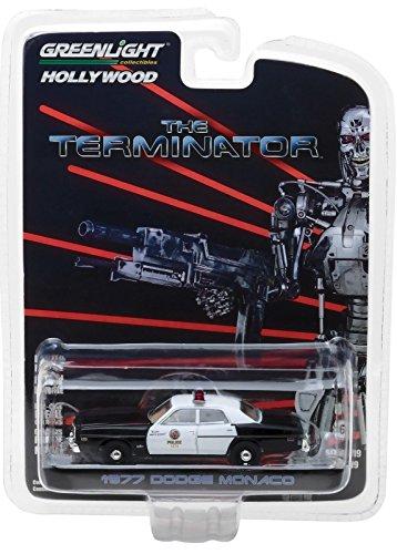 Greenlight 1977 Dodge Monaco Metropolitan Police, The Terminator 44790C - 1/64 Scale Diecast Model Toy Car