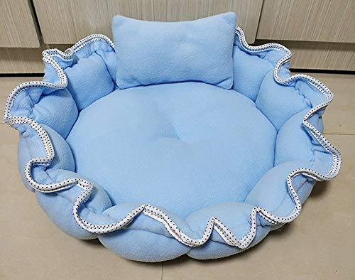 bluee Looking back is the shore Luxury Soft wash Dog pet Oval Bed Contemporary Grey Design Winter Warm Round Dog Bed Soft Kitten Puppy pet pad Puppy (color   bluee)